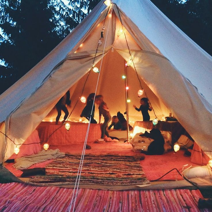 gorgeous glamping tent makes a lovely spa spot from love, sarah schneider blog!