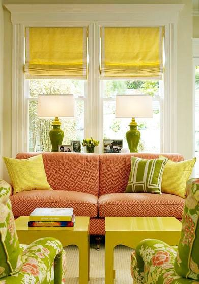 This is a favorite color scheme with the yellows and greens making up the  split complementary