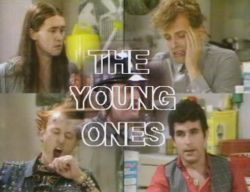 The Young Ones is a British sitcom, first broadcast in 1982, which ran for two series on BBC2. Its anarchic, offbeat humour helped bring alternative comedy to television in the 1980s and made household names of its writers and performers. Soon afterwards, it was shown on MTV, one of the first non-music television shows on the fledgling channel.