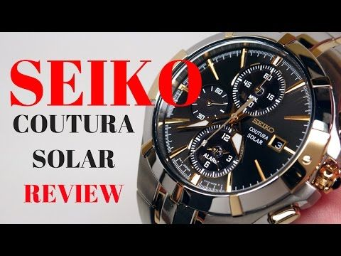 (4K) Seiko Coutura Solar Alarm Men's Watch Review Model: SSC198