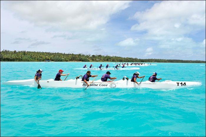 Paddle Aitutaki's stunning lagoon after Vaka Eiva - Motu 2 Motu. Cook Islands