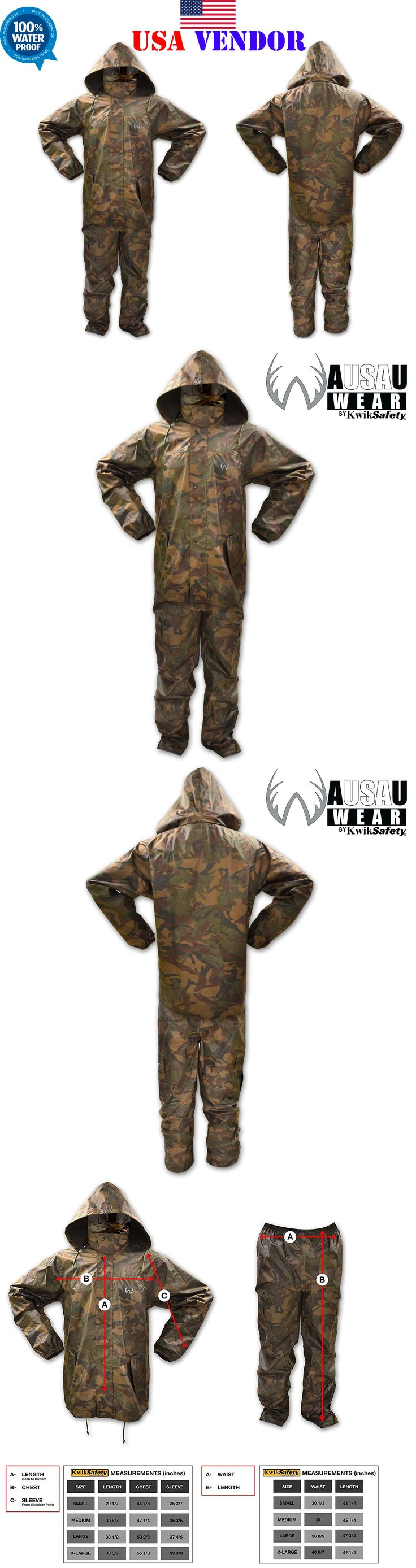 Jacket and Pant Sets 177872: Camouflage Rain Suit All Purpose Weatherproof Waterproof Camo Suit All Sizes -> BUY IT NOW ONLY: $49.99 on eBay!