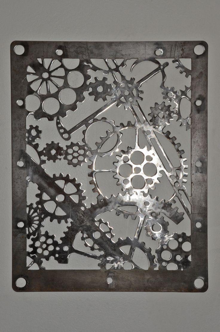 steampunk cuadro decoración original diseño ironpig plasma cut