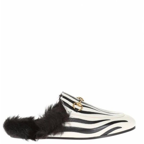Gucci Zebra Printed Loafers (2.965 RON) ❤ liked on Polyvore featuring shoes, loafers, white, fur shoes, gucci footwear, zebra shoes, white loafers and gucci loafers