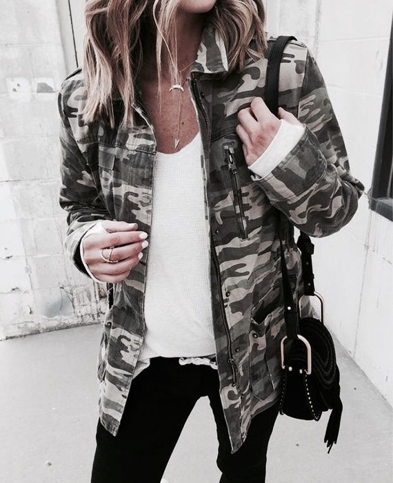 Pinterest: •Linell• Casual camo jacket