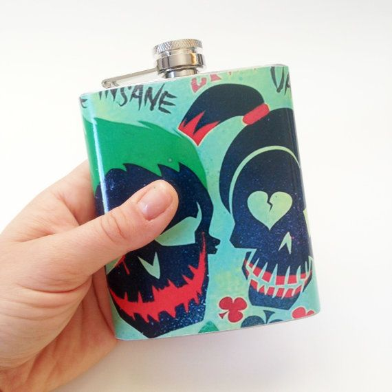 Collection piece for Harley and Joker fans.... Custom hip flasks! Features: -7…