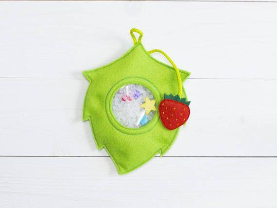 I spy bag Sensory toy Soft felt toy Eye spy game Busy bag