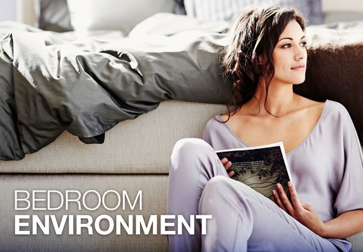 The bedroom environment is more important than you think! Temperature: We sleep best at between 16-18° Air: Clean, fresh air Light: As dark as possible Sound: As quiet and still as possible Humidity: approx. 45-55%.