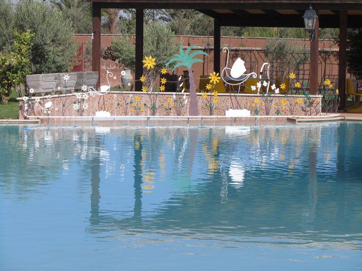Magnifique piscine a Marrakech.