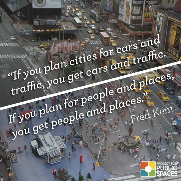 """If you plan cities for cars and traffic, you get cars and traffic.  If you plan…"