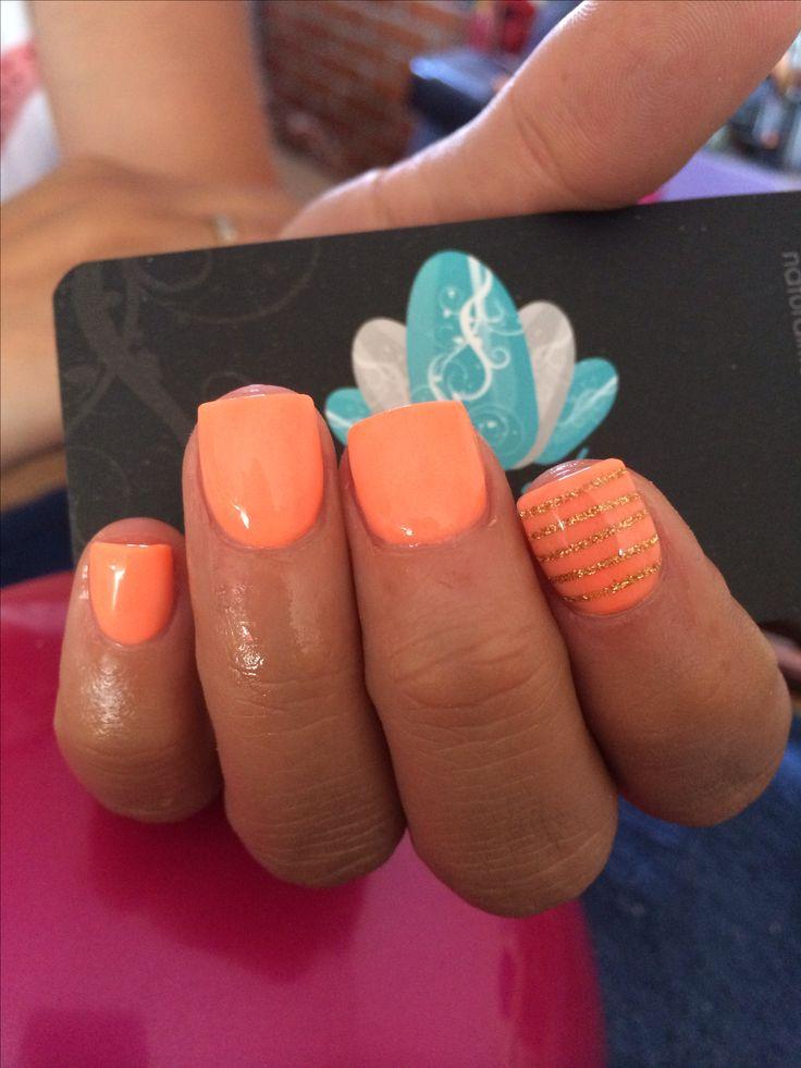 trending peach nail art ideas