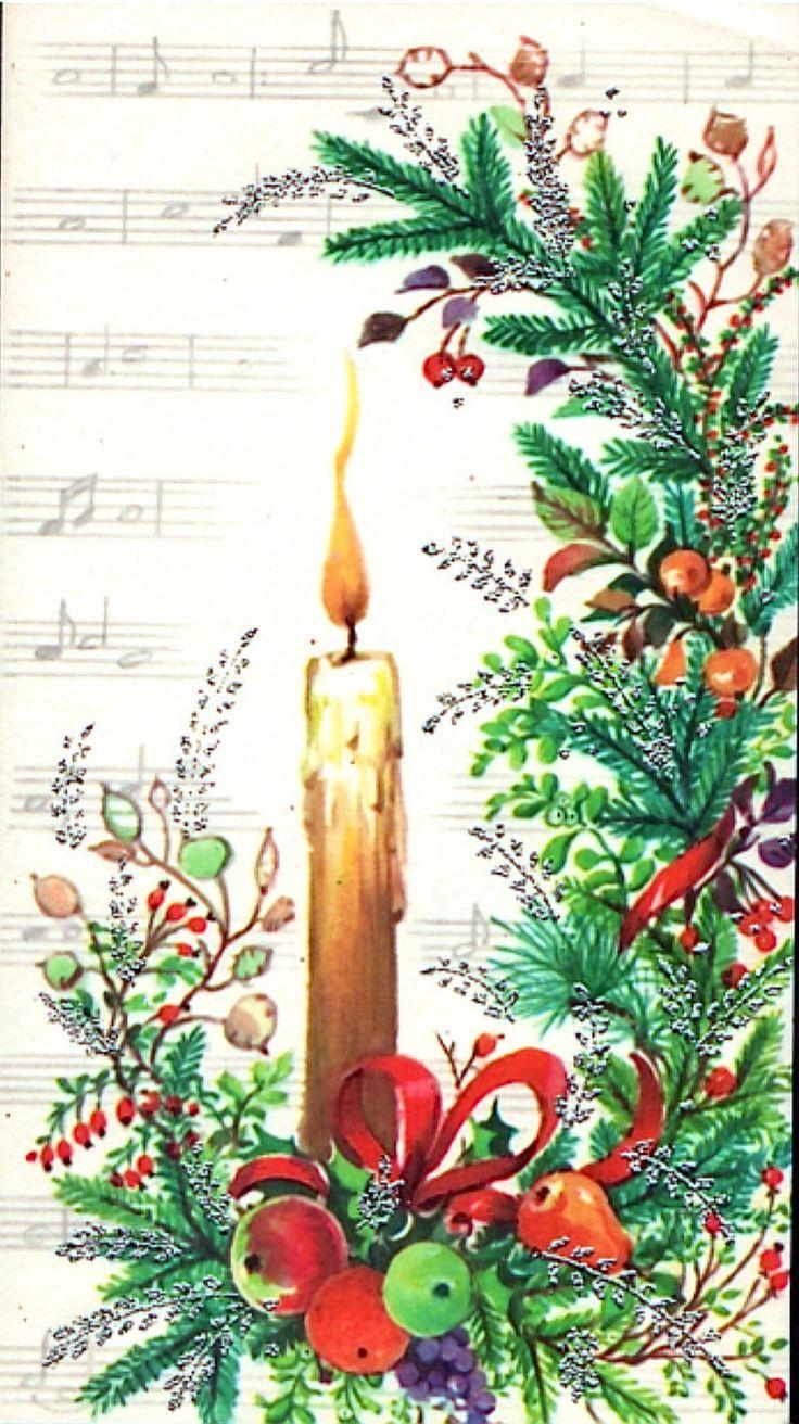 Beautiful Christmas candle card.