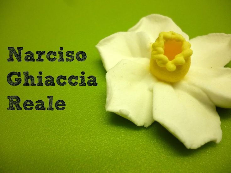 Fiore narciso in ghiaccia reale by ItalianCakes