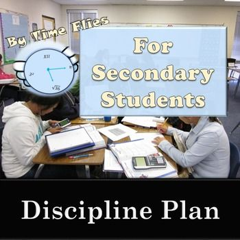 If you are a new teacher or you feel like you need a better discipline plan this year, you have come to the right place. This behavior management plan is geared toward high school and middle school students, but can be used with younger students. This plan has been used by me for