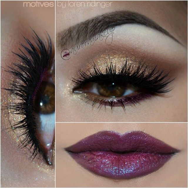 Copper purple look