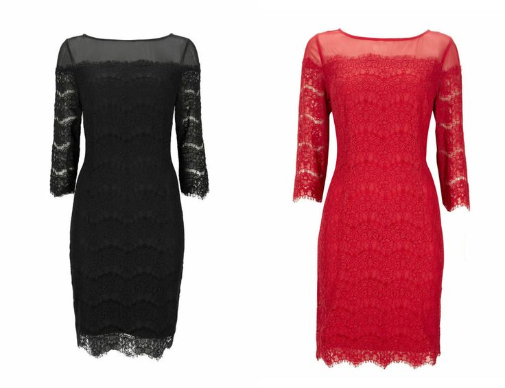 NEW Wallis Black Red Floral Lace Party Shift Dress 10 12 14 16