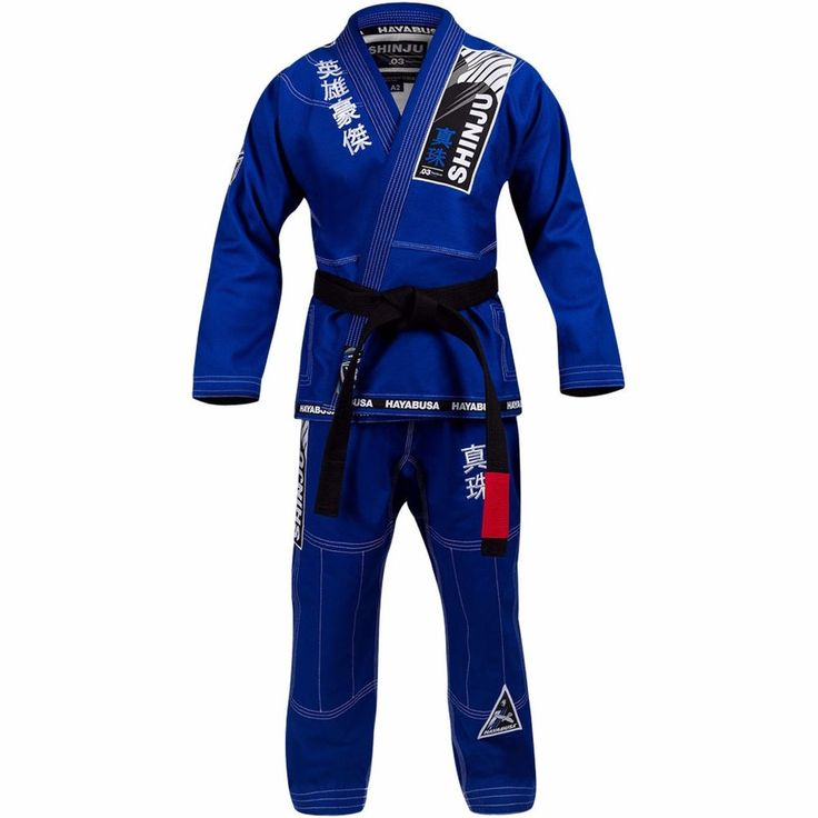 Shinju 3 Hayabusa Pearl Weave Jiu-jitsu Uniform GI BJJ Jiu jitsu Brazilian Blue #Hayabusa