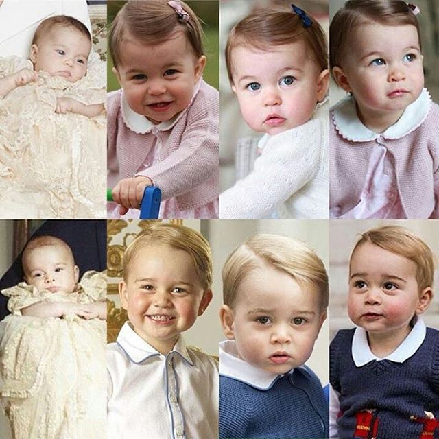 The little ones... Prince George and Princess Charlotte