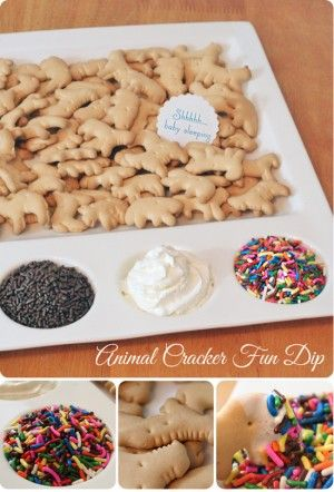 For a kids bday party? Genius! What kid doesn't love animal crackers adults:use nilla wafers/oreos