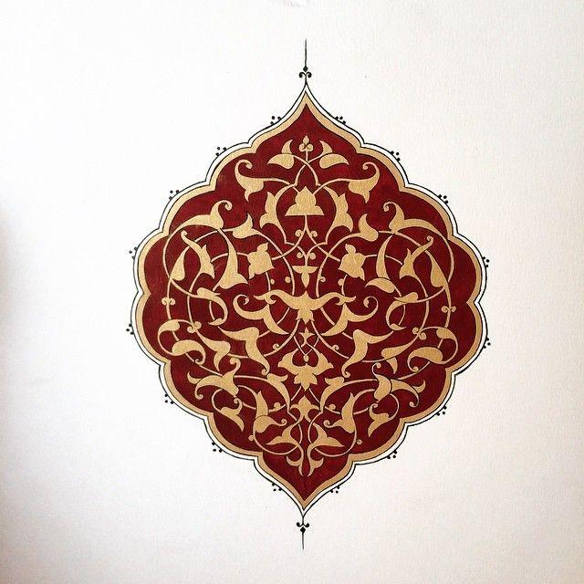 Rumi desenleriyle çalıştığım bir şemse✒️✏️✒️