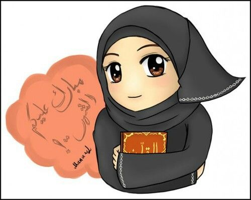 #Hijab #muhajabbah #muslimah #anime #manga #cartoon #islam #veil #islamic #woman…