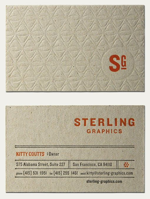 Sterling Graphics business card