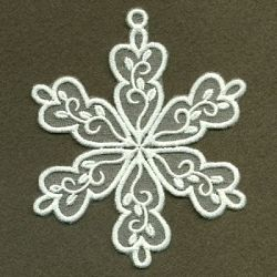 Organza Decorative Snowflake 5 - 4x4 | What's New | Machine Embroidery Designs | SWAKembroidery.com Ace Points Embroidery
