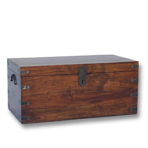Muebles para el Hogar: Mueble Colonial | BAUL RECTANGULAR DE MADERA DE MADERA DE ACACIA JAIPUR