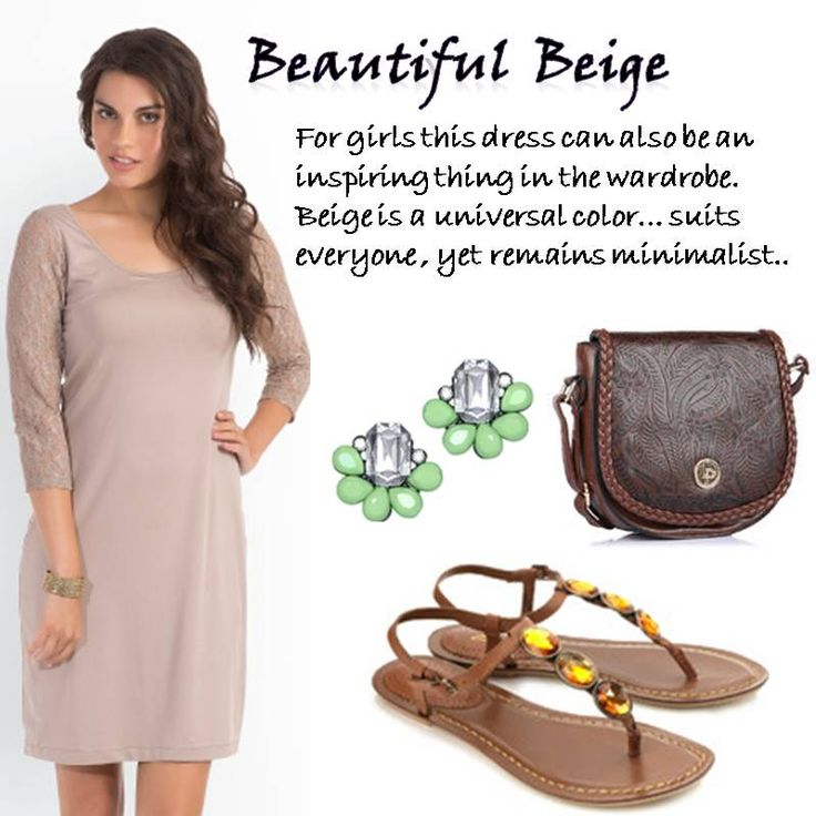 Beautiful Beige > http://faborskip.com/post/105334712805/beautiful-beige-for-girls-this-dress-can-also-be   For girls this dress can also be an inspiring thing in the wardrobe. Beige is a universal color suits everyone , yet remains minimalist.