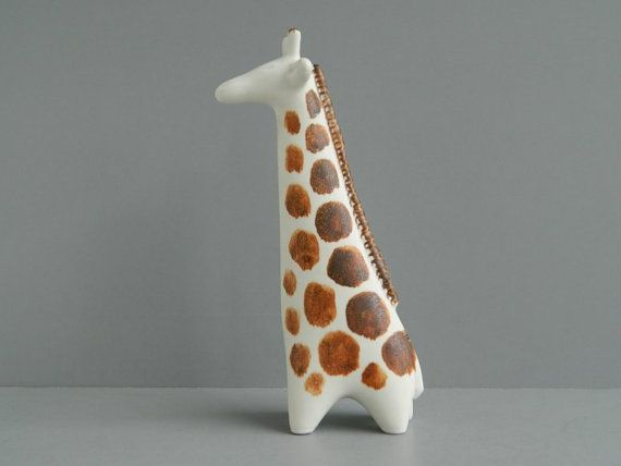 Arabia Finland Ceramic Giraffe Figurine by Taisto by MonkiVintage