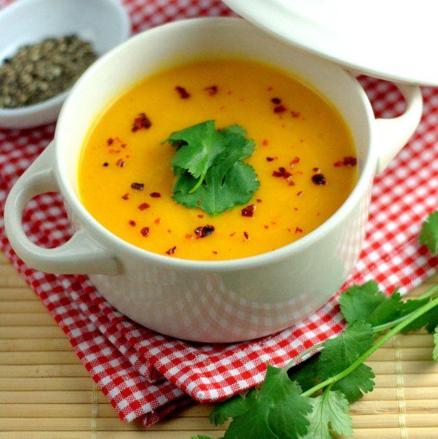 Zesty Carrot & Sweet Potato Coconut Soup 2