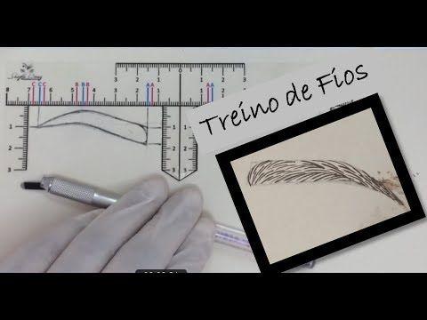 MICROBLADING - TREINO DE FIOS EM PELE SINTÉTICA - YouTube