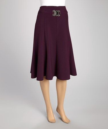 This Plum Embellished Trumpet Skirt - Women & Plus by Wall Street is perfect! #zulilyfinds