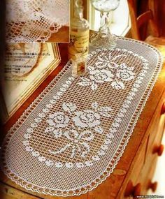 MESA WAY IN CROCHE, RECIPES crochet: Crochet Table Runner