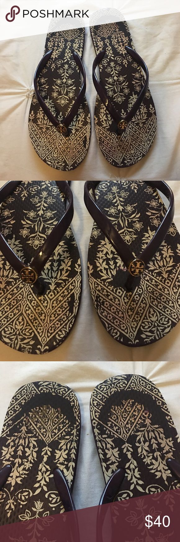 Tory Burch sandals Purple Tory Burch sandals good condition size 9 Tory Burch Shoes Sandals