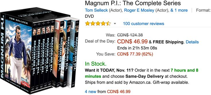 Amazon Canada Black Friday Todays Deals: Save 62% On Magnum P.I.: The Complete Series 35% on Bissell Little Gr... http://www.lavahotdeals.com/ca/cheap/amazon-canada-black-friday-todays-deals-save-62/136954