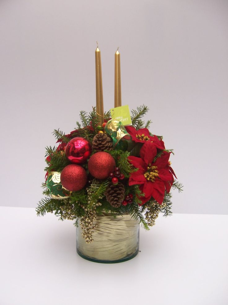 17 best images about flower arrangements on pinterest - Centro de mesa para navidad ...