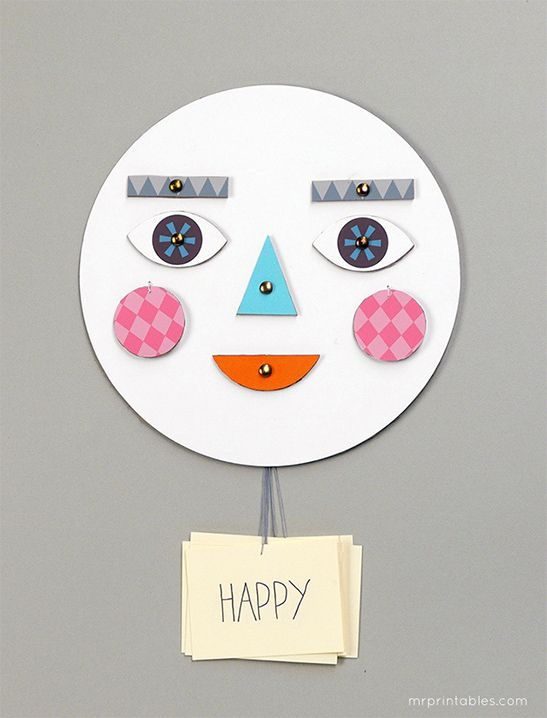 Make a Face! - Mr Printables
