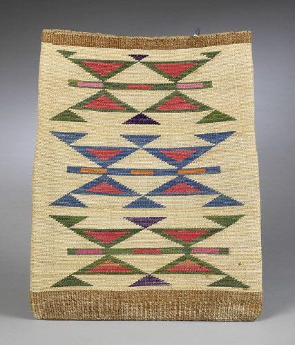 Nez Perce Corn Husk Bag, - Cowan's Auctions