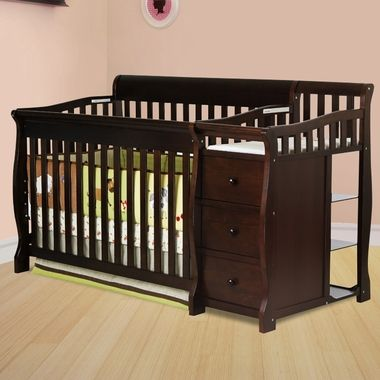 Dream On Me Brody 4 In 1 Convertible Crib With Changer Espresso FREE SHIPPING