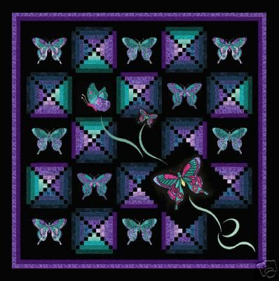 Butterfly Quilt -- This exquisite butterfly quilt kit designed exclusively in Australia by Rosene Cox.