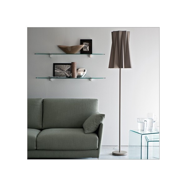 Andromeda floor lamp by Calligaris.  Available in white, black and taupe.  Also as a table lamp and pendant lamp.  www.pomphome.com