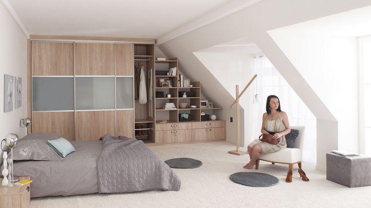 1000 images about maison on pinterest plan de travail for Chambre 9m2 lit double