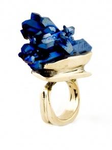 cobalt blue quartz crystal