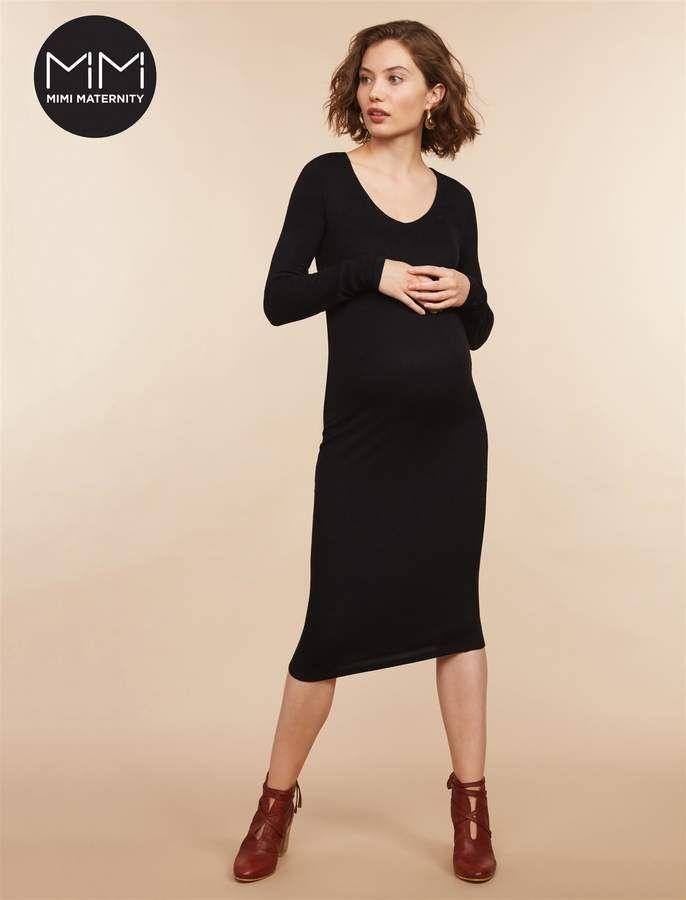 673caf00067 Motherhood Maternity Mimi Rib Knit  Maternity Dress  ad