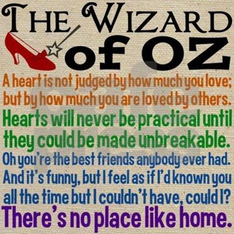 Wizard of Oz Quotes Tote Bag by QuotableTV