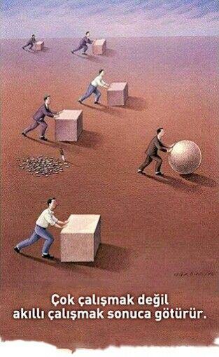 Çok çalışmak değil akıllı çalışmak sonuca götürür...