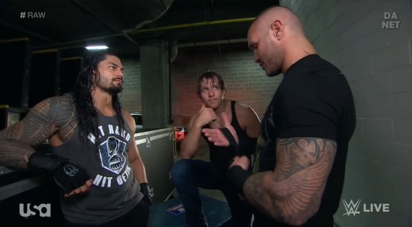 Roman Reigns Dean Ambrose and Randy Orton