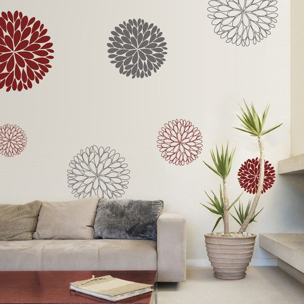 Abstract Flowers Vinyl Wall Sticker