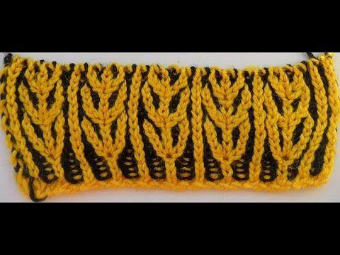Узор для шарфа- бриошь -Brioche knitting scarf